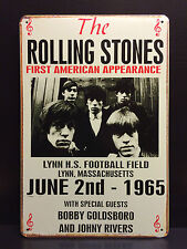THE ROLLING STONES FIRST US CONCERT POSTER 1965 METAL SIGN WALL DECOR 16x12 CM