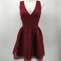 Saks Fifth Avenue Red Sleeveless Dress Large