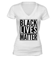 # Black Lives Matter , Women V-neck T-shirt T shirt soft Cotton S-5X