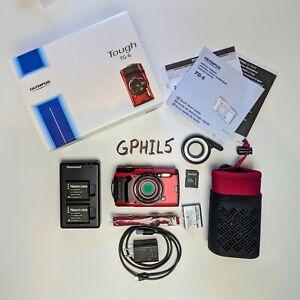 Olympus Tough TG-6  4K ULTRA HD - 12MP Waterproof Digital Camera - Red + EXTRAS