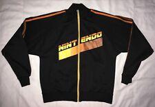 Rare Nintendo Full Zip Logo Brown Track Jacket Men's Small