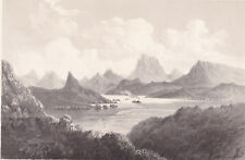 orig Sarony lithograph: F. W. Egloffstein, Cane Brake Cañon, Colorado c1855-1860