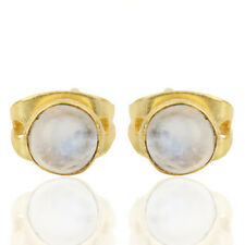 Party Wear Rainbow Moonstone 18k Gold Plated Fashion Brass Earring Gift Jewelry