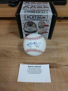 Whitey Herzog, AUTOGRAPHED, Baseball, Tristar Cert. Royals/Cardinals