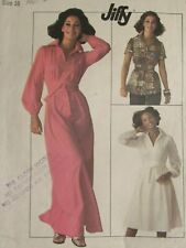 VTG 76 SIMPLICITY 7617 MS Dress in 2 lengths or Top & Tie Belt PATTERN 16/38B