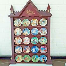 Bradford Exchange Disney Masterpiece mini plate collection full set 20 & shelf