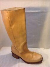 Jones Boot Maker Beige Mid Calf Leather Boots Size 38