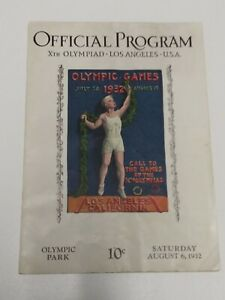 1932 Offical Olympic Program Los Angeles CA. August 6th