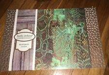 New Kathy IRELAND Snakeskin Expressions Placemats. Set Of 20 Green Brown