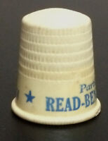 Vintage 1930's READ-BENZOL CLEANING CO Celluloid Advertising Thimble