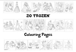 FROZEN Colouring Pages - 20 Sheets - Perfect for Rainy Days & Holidays!
