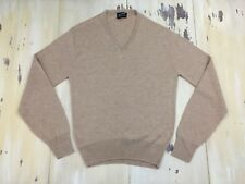 PURITAN - Vtg Tan Acrylic V-neck Sweater, Made In USA, Mens XL - MUST SEE!