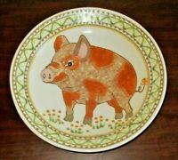 "Vtg Janet Rothwoman Art Pottery 10 1/4"" Pig - Shallow Bowl, Plate, Dish"