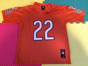Matt Forte Chicago Bears #22 NFL Team Reebok Orange Jersey Boy's Size L 14-16