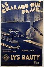 Partition alt partitur sheet music = Lys Gauty - Le chaland qui passe