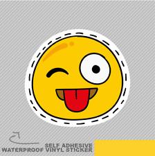 Sonrisa feliz Parche emoji Vinilo Pegatina Calcomanía ventana de coche furgoneta bicicleta 1999