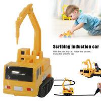 Magic Follow Any Drawn Line Pen Inductive Car Truck Bus Tank Model Kids Toys