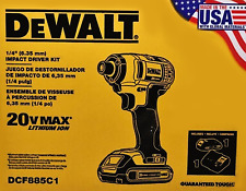DEWALT 20V MAX 1.5 Ah Cordless Li-Ion 1/4 in. Impact Driver Kit DCF885C1 NEW