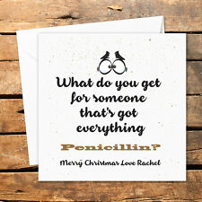 Personalised Handmade Christmas Card What Do You Get Someone Xmas Adult Humour