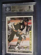 MARIO LEMIEUX 1993-94 Topps/OPC Premier LL #185 BGS MINT 9 Penguins