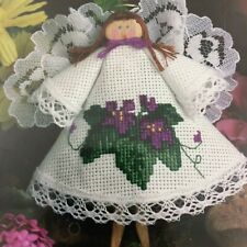 Angel Clothespin Cross Stitch Kit Designs for the Needle Purple Violets Sealed