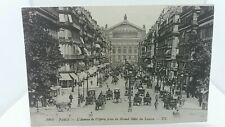 Antique Postcard L'avenue del Opera Paris Grand Hotel 1890s Nice Street Scene