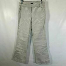 J Crew Favorite Fit Chino Pants 100% Cotton Flare Leg Flat Front Bone Size 0