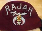 Vintage Masonic RAJAH Temple Fez Cap Hat with Tassel