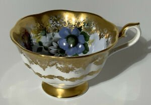 Royal Albert 'Portrait Series' Gilded Floral Cabinet Tea Cup Cabinet Piece China