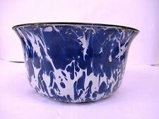 "Vintage Marbled Enamelware Bowl Pot Jar Farmhouse  Kitchenalia Collectibles ""F4"
