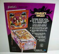 Charlies Angels Pinball FLYER Original NOS Art Jaclyn Smith Cheryl Ladd Gottlieb