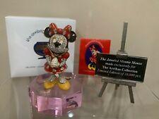 Swarovski Crystal ARRIBAS Minnie Mouse W/ Stand & Title Plaque L.E. New MIB