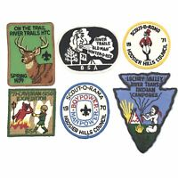 Boy Scouts Of America Vintage BSA Patches 1970's 6 Piece Lot Rare Collectibles