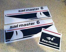Johnson Sailmaster Outboard Motor Decal Kit 6 HP/9.9 FREE SHIP + FREE Fish Decal