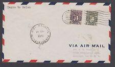 Nigeria Sc 60, 61 on 1941 First Flight Cover, Lagos to Belem, Brazil. Ffc