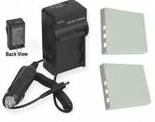 TWO 2 NP-40 UF553436 Batteries + Charger for Sanyo VPC-E760 VPC-E760GL VPC-E760P
