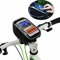 Bike Bicycle Handlebar Bag Touch Phone Case For iphone 5/6/7 Samsung S3/4 HTC