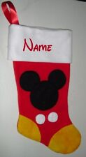Disney Mickey  Mouse Christmas Stocking Free Personalization !