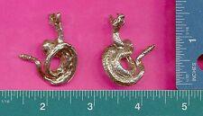 6 wholesale lead free pewter snake figurines C3031