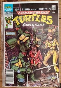 Teenage Mutant Ninja Turtles Adventures 1 Newsstand VF/VF+ 1st Bebop Rocksteady