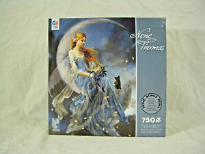 "COLLECTIBLE Nene Thomas ""Windmoon"" 750 pc puzzle NIB - Factory Sealed - w/ kitty"