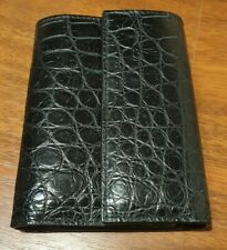 Crocodile Leather Key Case Wallet