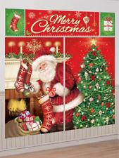 Mágico Feliz Navidad Padre Navidad Santa Escena Setter Pared Decoración Kit