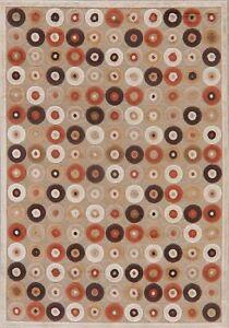 Polca Dot All-Over Brown Modern Area Rug Oriental Turkish Carpet 5x7 Loop Pile