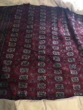 Antique Red Geometric Bokhara Afghan Oriental Hand-Knotted 148by160great Shape