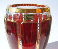 Große Vase mit Leistenschliff Label Egermann orig. Verpackung