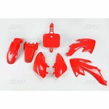 NEW UFO Honda CRF 50 Export Motocross MX Plastic Kit 2004 - 2017 Red