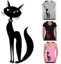 New Cat Ladies Women's T-Shirt cool groovy rock n roll funky tee Rockabilly size