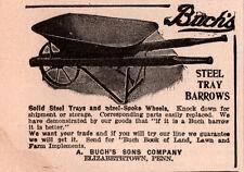 1914  AD  BACHS STEEL TRAY WHEEL BARROWS  ELIZABETHTOWN