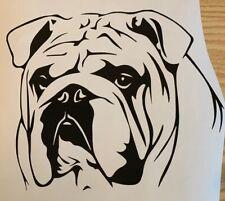 1x Bulldog Face  Vinyl Sticker Decal Graphic Car Van Window Black